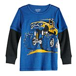 Boys 4-12 Jumping Beans® Adaptive Graphic Mock-Layer Skater Tee