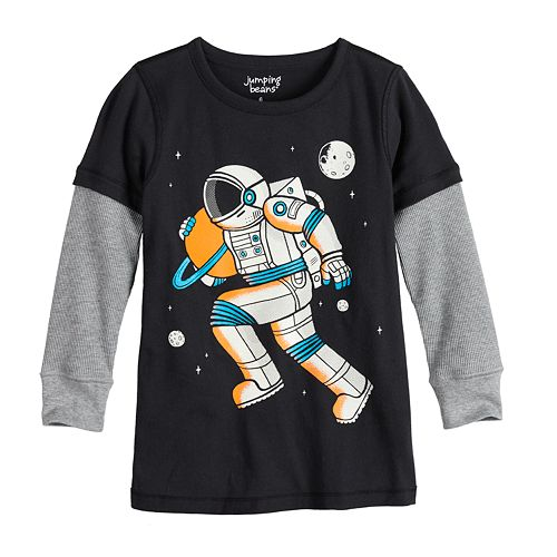 Toddler Boy Jumping Beans® Adaptive Astronaut Double Layer Graphic Tee