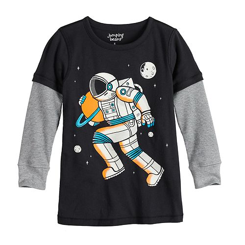 Boys 4-12 Jumping Beans® Adaptive Astronaut Double Layer Graphic Tee