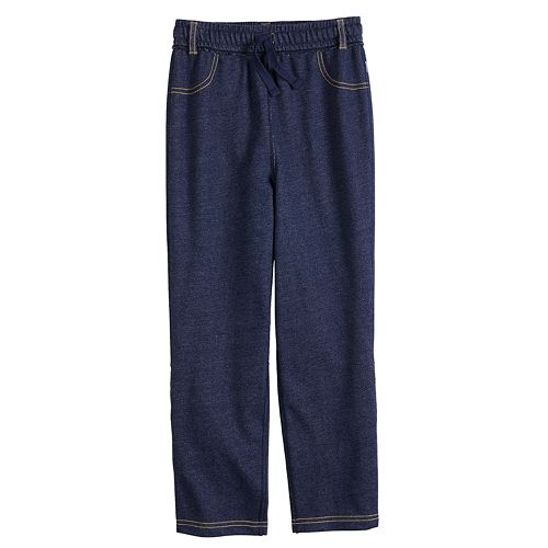 Boys 4-12 Jumping Beans® Adaptive French Terry Denim Pants
