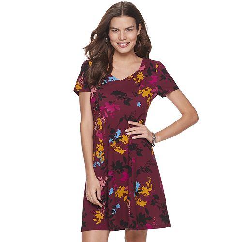 Women's Apt. 9® Short Sleeve V-Neck Dress