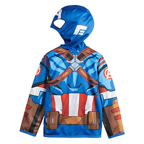Boys 4-12 Jumping Beans® Marvel Captain America Costume Hoodie