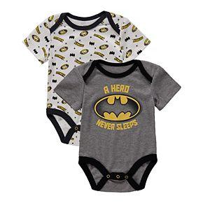 Baby Boy Batman Bodysuit 2-Pack