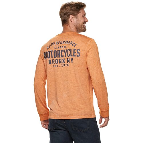 Men's SONOMA Goods for Life™ Bronx Motorcycles Long-Sleeve Pocket Tee