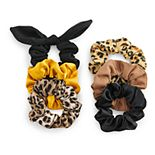 SO® Leopard Print Scrunchie Set
