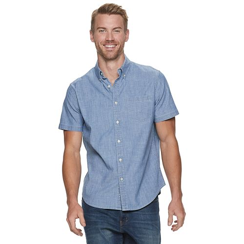 Men's Sonoma Goods for Life™ Chambray Button-Down Shirt