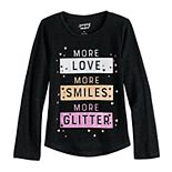 Girls 4-12 Jumping Beans® Graphic Shirttail-Hem Tee