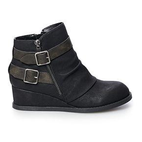 SO® Garlic Women's Double Buckle Wedge Boots