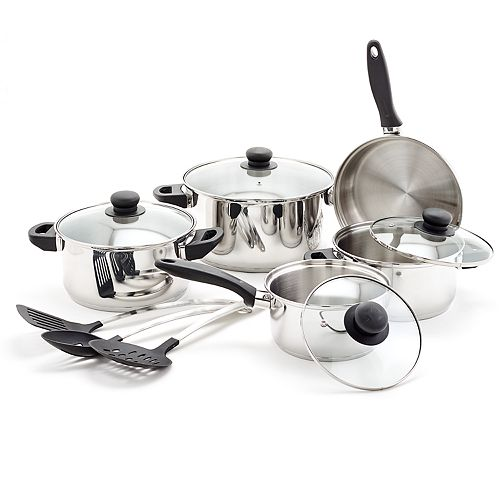 Old Dutch 12-pc. Stainless Steel Cookware Set