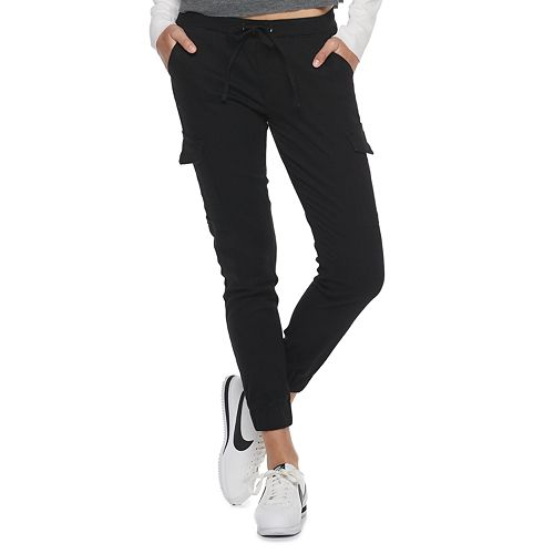 Juniors' Almost Famous Twill Pull-On Cargo Jogger