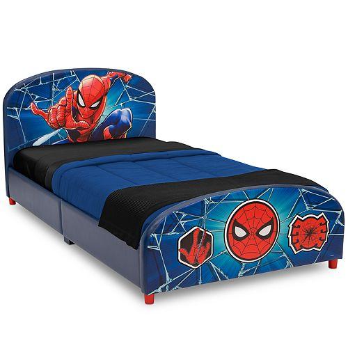 Delta Children Marvel Spider-Man Upholstered Twin Bed