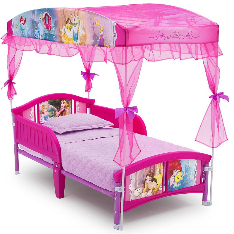 Delta Children Disney Princess Toddler Canopy Bed, Pink