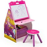 Delta Children Disney Princess Activity Center with Easel Desk, Stool and Toy Organizer