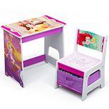 Delta Children Disney Princess Kids Wood Desk and Chair Set