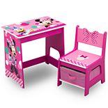 Delta Children Disney Minnie Mouse Kids Wood Desk and Chair Set