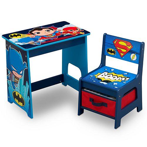Wondrous Delta Children Dc Super Friends Kids Wood Desk And Chair Set Ibusinesslaw Wood Chair Design Ideas Ibusinesslaworg