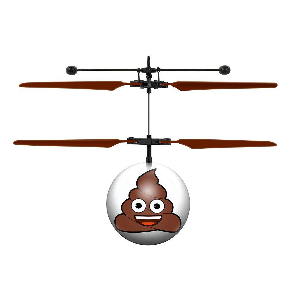 World Tech Toys Poop Emoji Heli Ball