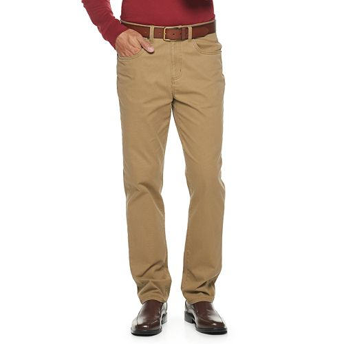 New Croft /& Barrow Flat Front Straight Fit Easy Care Men/'s Pants Choice