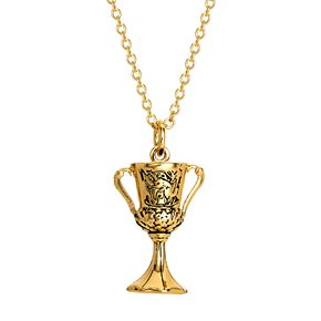 Harry Potter Gold Toned Brass Goblet Of Fire Necklace
