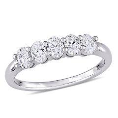 Lovemark 14k White Gold 1 Carat T.W. Diamond 5-Stone Ring
