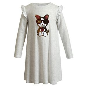 Girls 4-6x Youngland Knit Dress with Dog/Sunglass