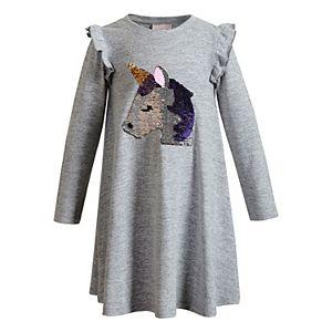 Girls 4-6x Youngland Knit Dress with Unicorn