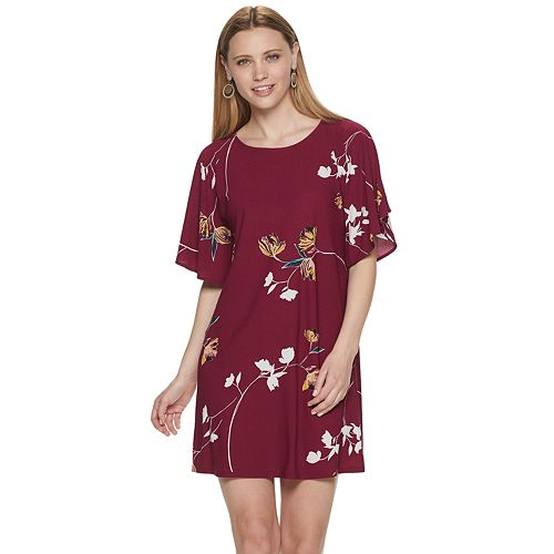 Petite Apt. 9® Print Dolman Sleeve A-Line Dress