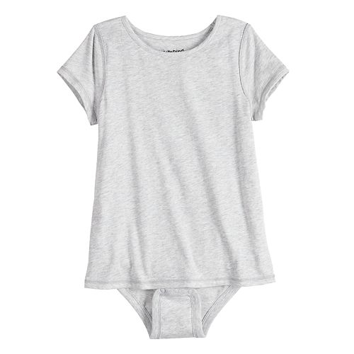 Girls 4-12 Jumping Beans® Adaptive Short Sleeve Mock-Layer Bodysuit
