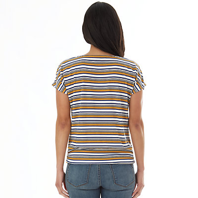Petite Apt. 9® Striped Ribbed Tee With Buckle