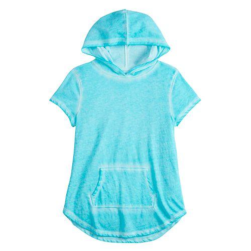 Girls 7-16 & Plus Size SO® Short Sleeve Hoodie Tee