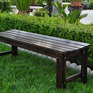 Shine Company 5 ft. Backless Garden Bench
