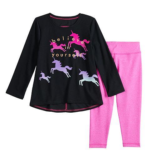 Toddler Girl Jumping Beans® Graphic Swing Top & Leggings Set