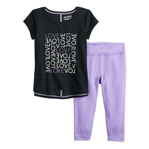 Toddler Girl Jumping Beans® Active Graphic Tee & Leggings Set