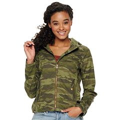07128fd1f3053 Juniors' SO® Hooded Jacket. Black Luxe Camo