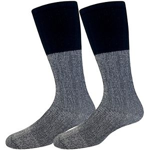 Men's Croft & Barrow® Soft Acrylic Thermal With Accent Marl Welt Socks