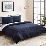 Scott Living Diamond Quilt Set with Shams or Euro Sham