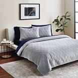 Scott Living 3-piece Geo Velvet Quilt Set