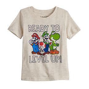 Toddler Boy Jumping Beans® Mario, Luigi, Yoshi & Toad Graphic Tee