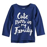 Baby Girl Jumping Beans® Vented Hem Graphic Long Sleeve Tee