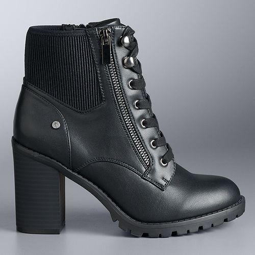 Simply Vera Vera Wang Micael Women's High Heel Ankle Boots
