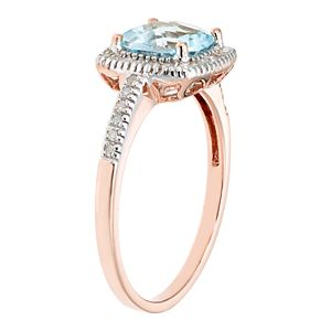 Sky Blue Topaz 10K Gold & 1/5 Carat T.W. Diamond Frame Ring