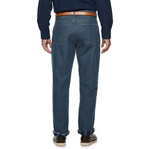 Big & Tall Croft & Barrow® Flannel Lined Denim Pants