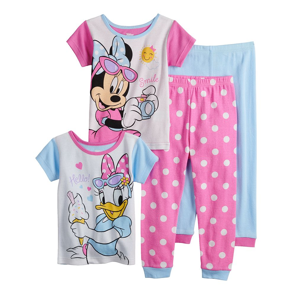 Disney's Minnie Mouse & Daisy Duck Toddler Girl Tops & Bottoms Pajama Set