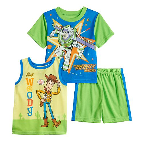 Disney / Pixar Toy Story Woody & Buzz Lightyear Tops & Shorts Pajama Set