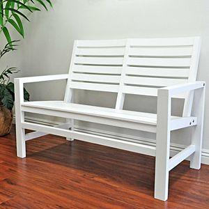 Shine Company Contemporary Garden Bench
