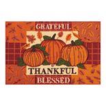 Celebrate Harvest Together Thankful Grateful Blessed Rug