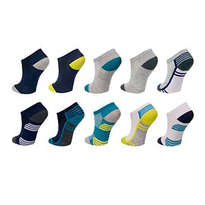 Boys 8-20 Tek Gear® Lightweight Performance 10-Pack Low-Cut Socks