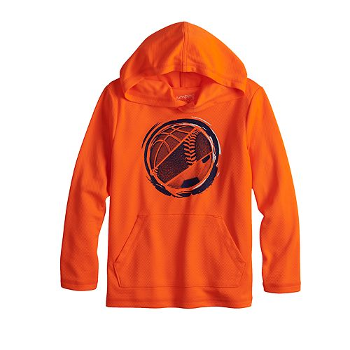 Boys 4-12 Jumping Beans® Sporty Lightweight Active Pullover Hoodie