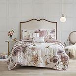 Madison Park Gisele 6-Piece Floral Cotton Quilted Coverlet Set
