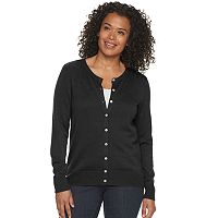 Deals on Croft & Barrow Essential Button-Front Womens Cardigan